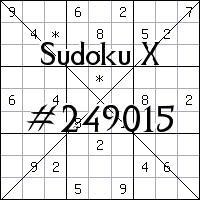Судоку-диагональ №249015