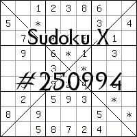 Судоку-диагональ №250994