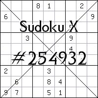 Судоку-диагональ №254932