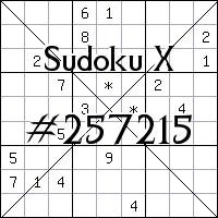 Судоку-диагональ №257215