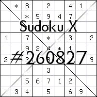 Судоку-диагональ №260827