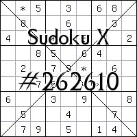 Судоку-диагональ №262610