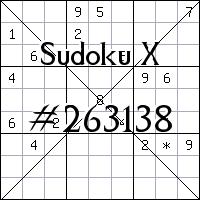 Судоку-диагональ №263138