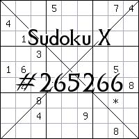 Судоку-диагональ №265266