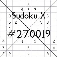 Судоку-диагональ №270019