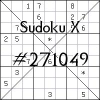 Судоку-диагональ №271049