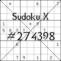 Судоку-диагональ №274398