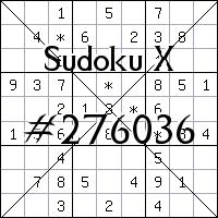 Судоку-диагональ №276036