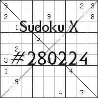 Судоку-диагональ №280224