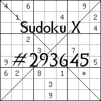 Судоку-диагональ №293645