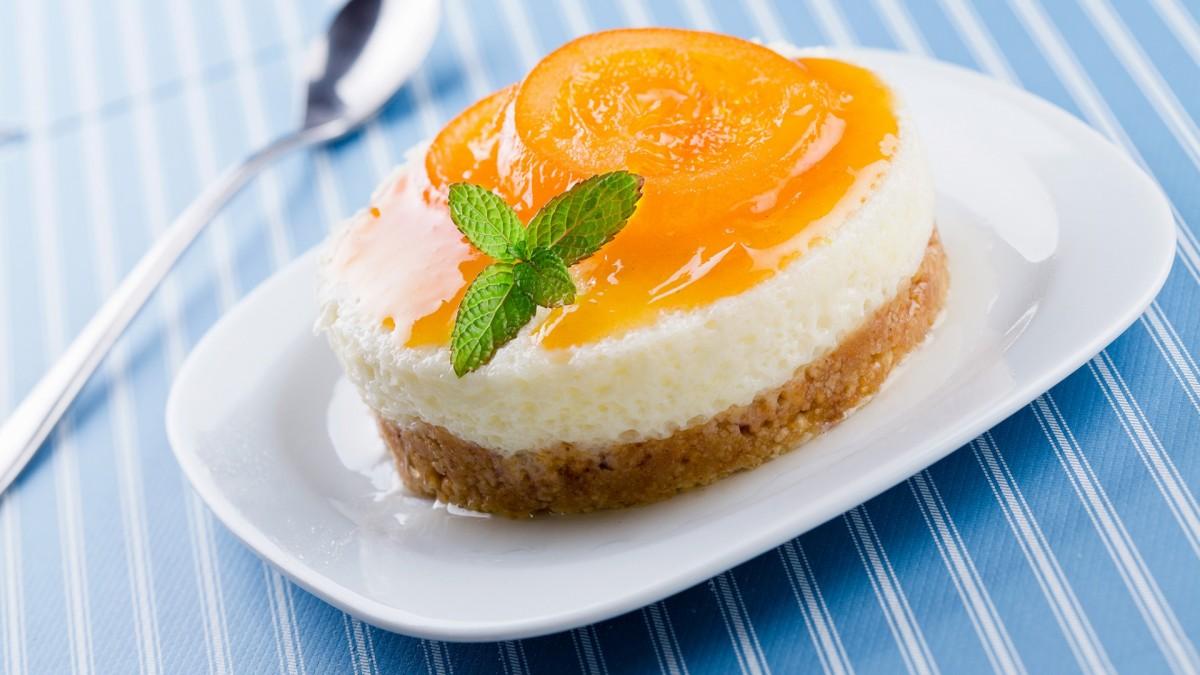 Пазл Собирать пазлы онлайн - Абрикосовое пирожное