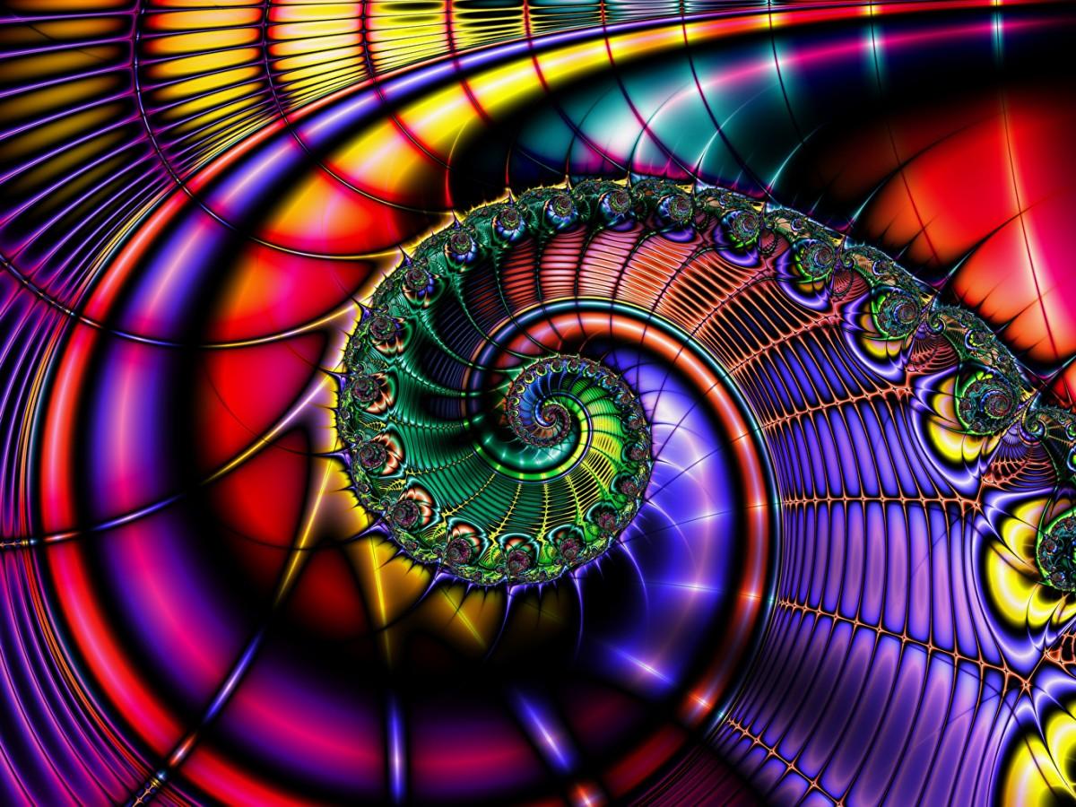Пазл Собирать пазлы онлайн - Абстракция спираль