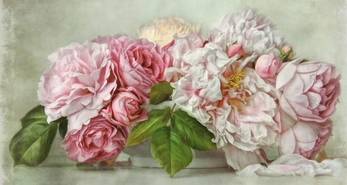 Пазл Собирать пазлы онлайн - Акварельные цветы