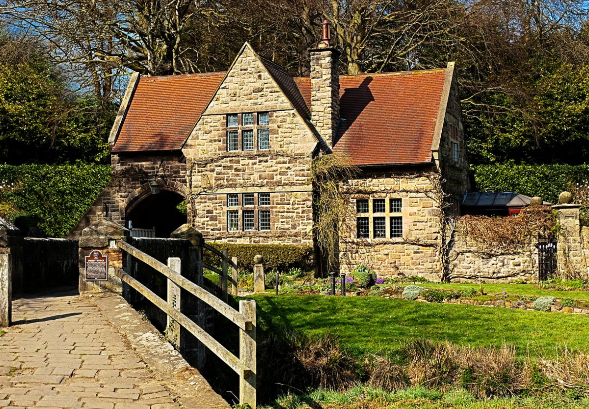 Пазл Собирать пазлы онлайн - Английская деревня