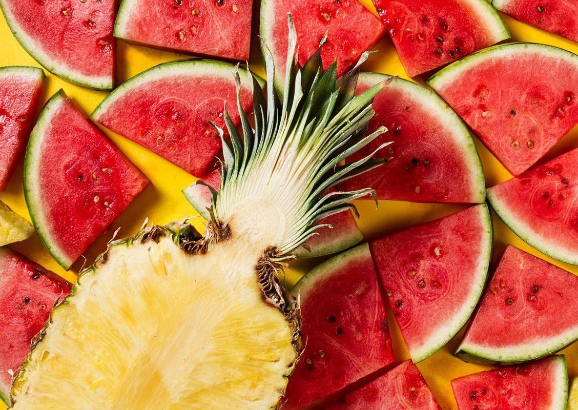 Пазл Собирать пазлы онлайн - Арбуз и ананас