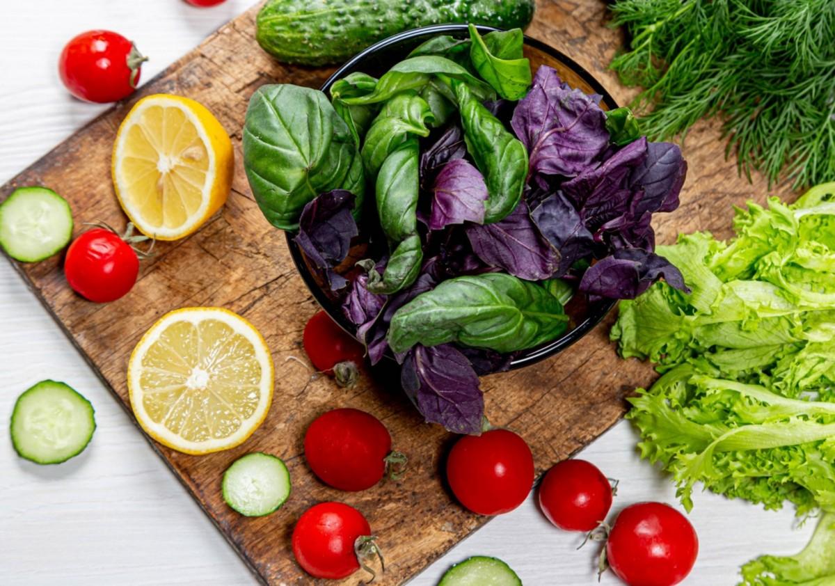 Пазл Собирать пазлы онлайн - Базилик и овощи