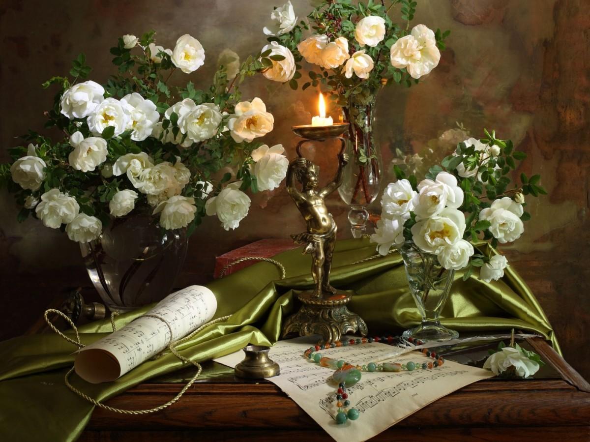 Пазл Собирать пазлы онлайн - Белые розы
