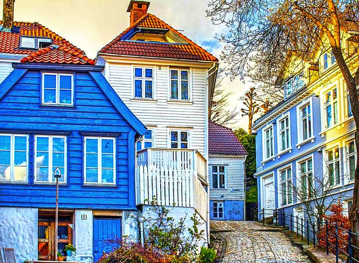Пазл Собирать пазлы онлайн - Берген Норвегия