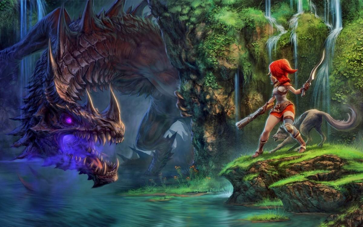 Пазл Собирать пазлы онлайн - Битва с драконом