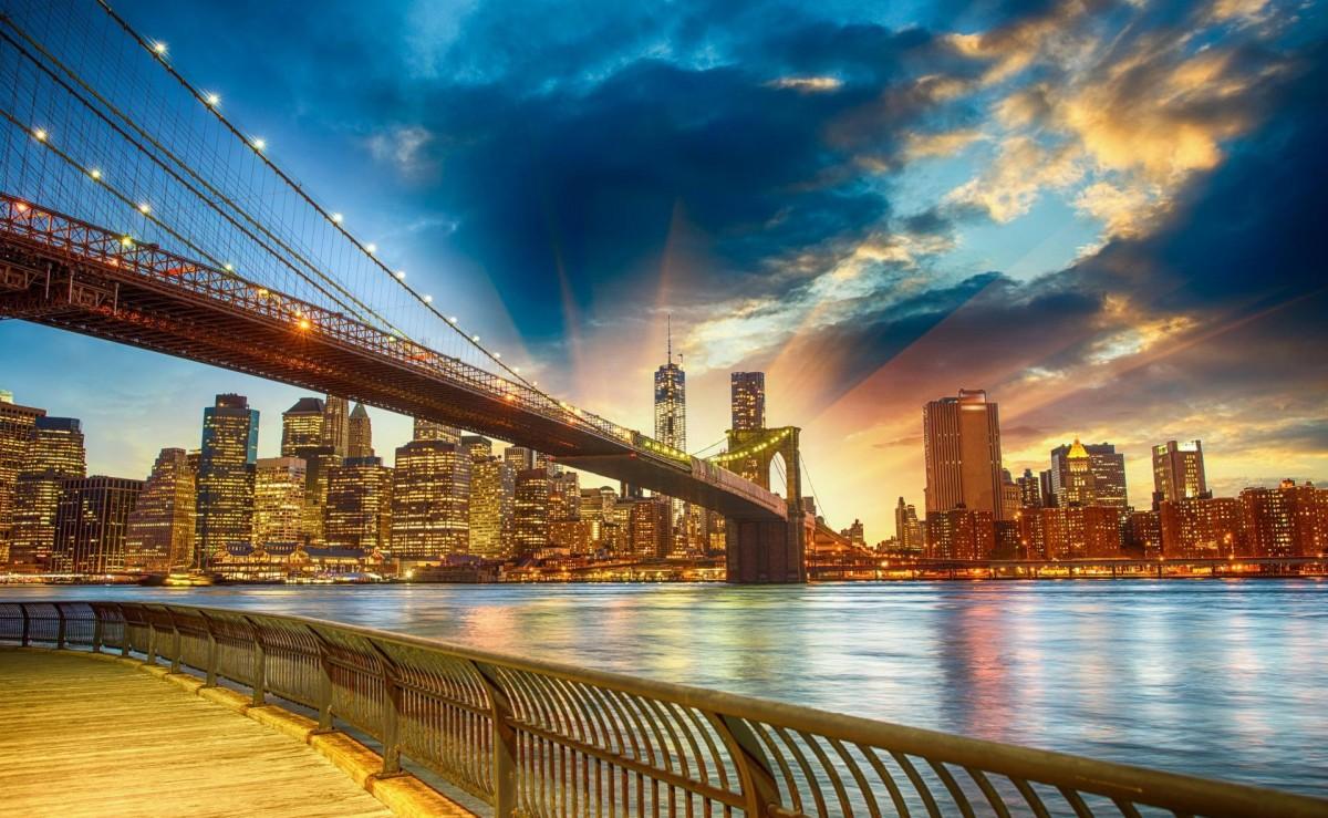 Пазл Собирать пазлы онлайн - Brooklyn bridge