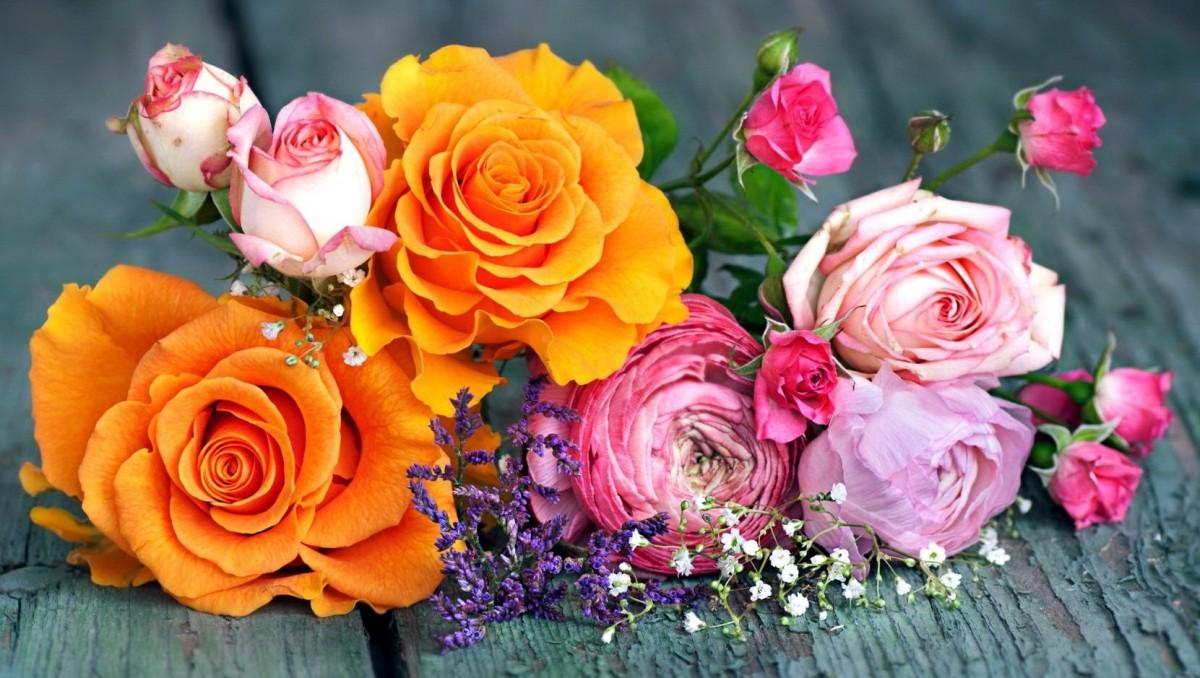 Пазл Собирать пазлы онлайн - Букет с розами