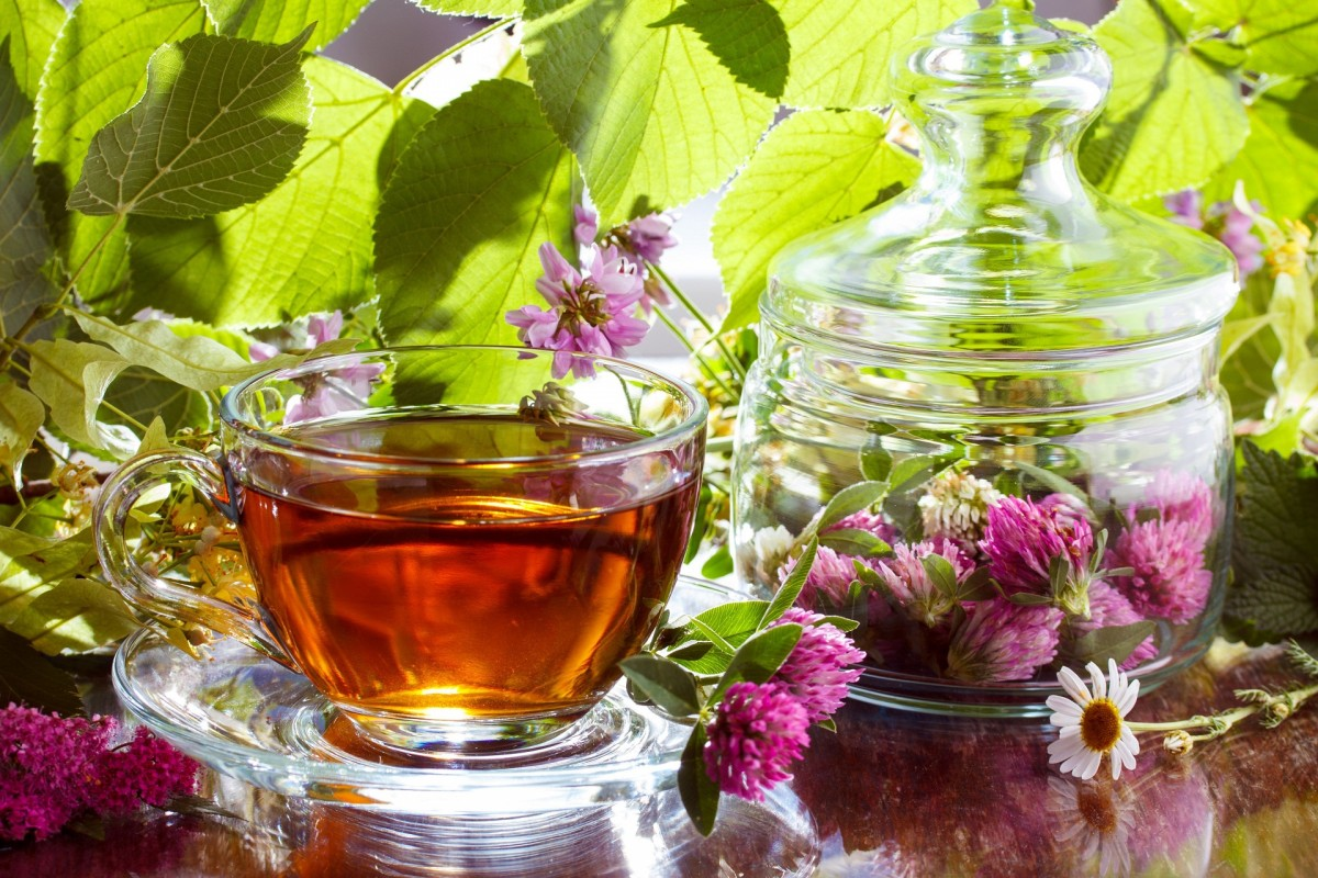 Пазл Собирать пазлы онлайн - Чай и цветы