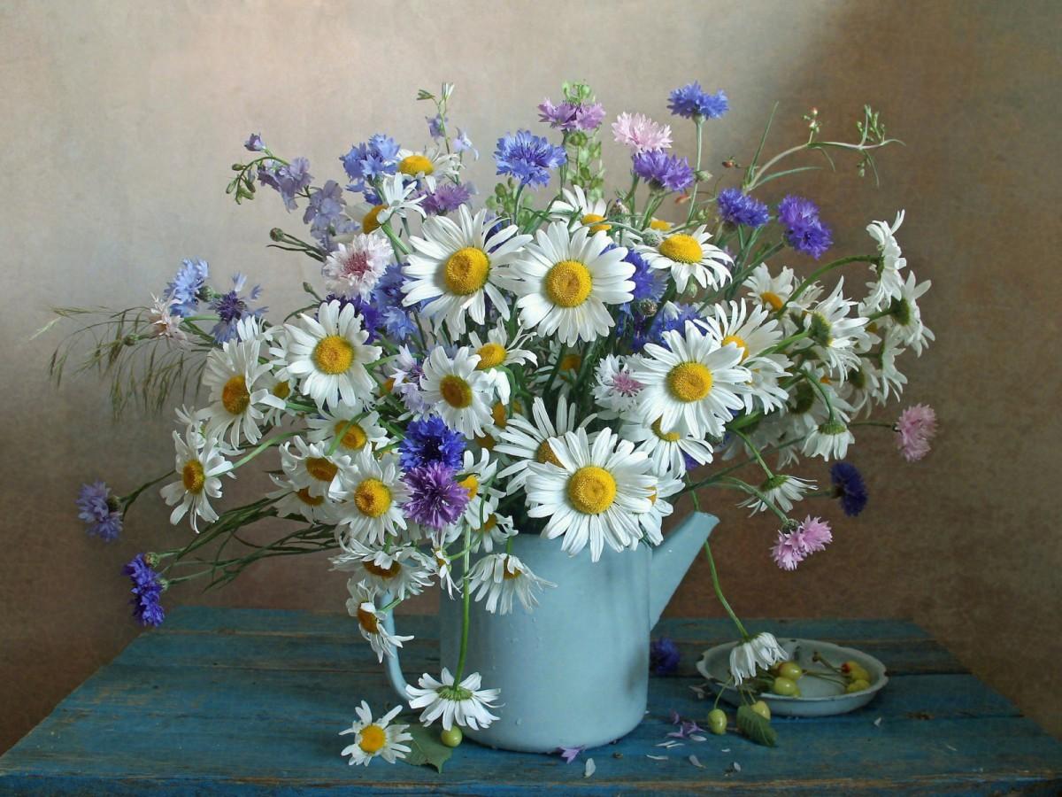 Пазл Собирать пазлы онлайн - Чайник с цветами