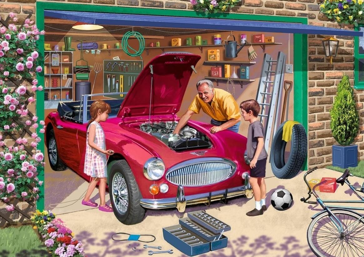 Пазл Собирать пазлы онлайн - Дедушкин гараж