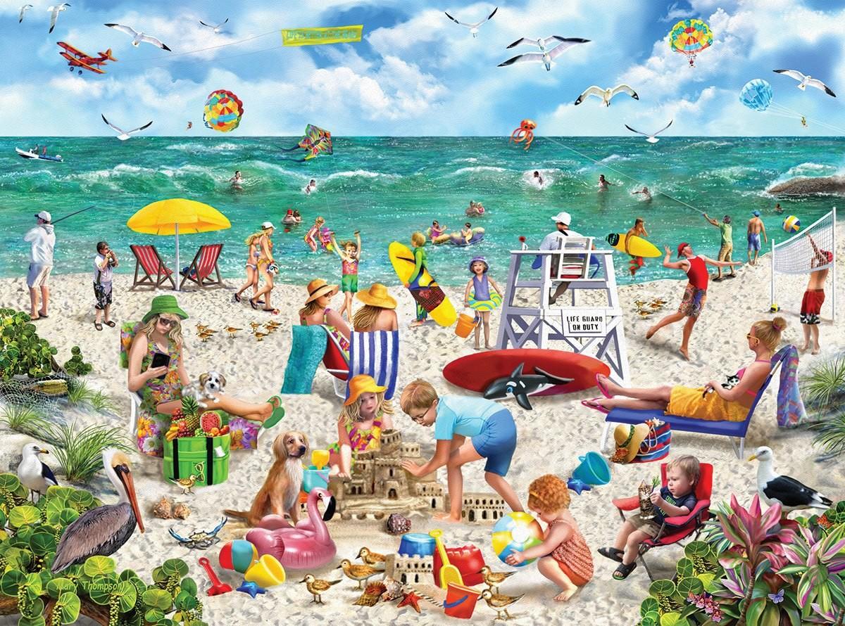 Пазл Собирать пазлы онлайн - День на пляже