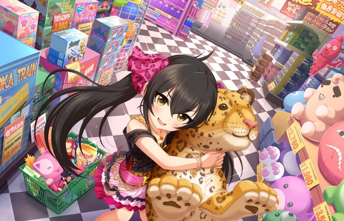 Пазл Собирать пазлы онлайн - Девушка и леопард