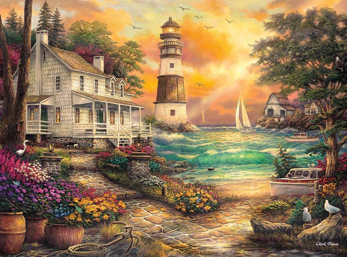 Пазл Собирать пазлы онлайн - Дом у моря
