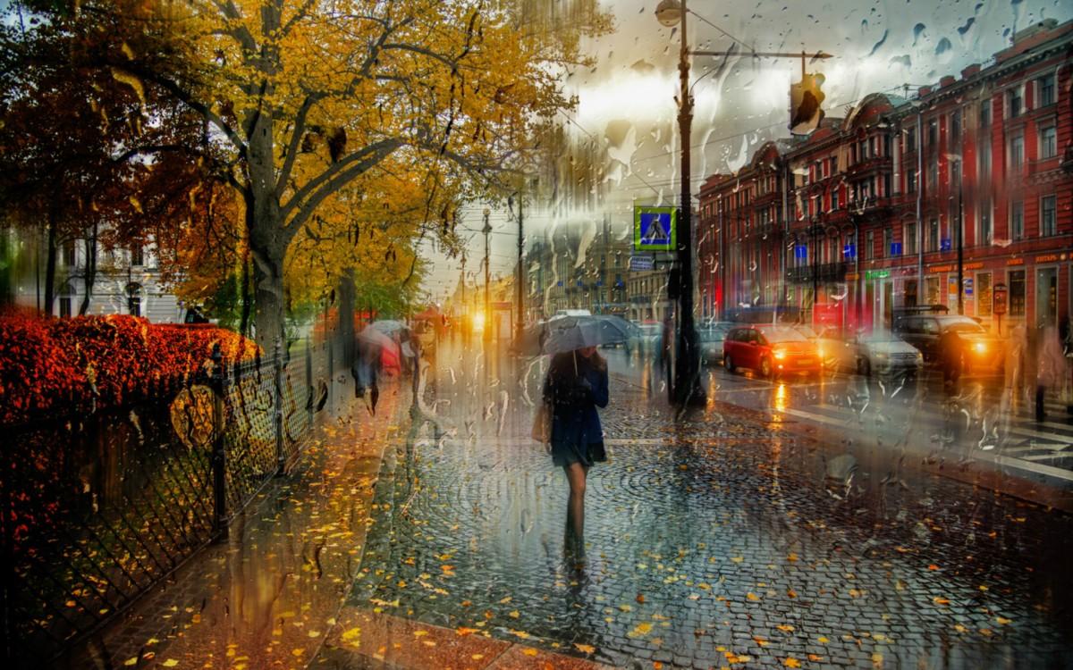 Пазл Собирать пазлы онлайн - Дождливый Петербург
