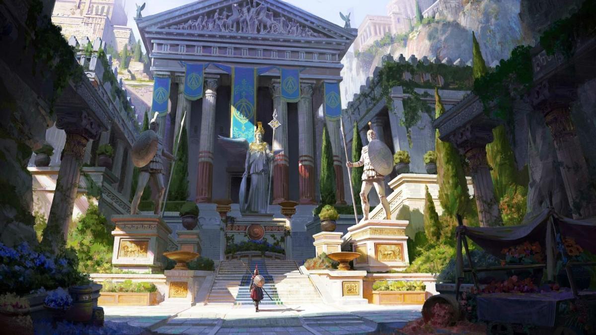 Пазл Собирать пазлы онлайн - Древнегреческий храм