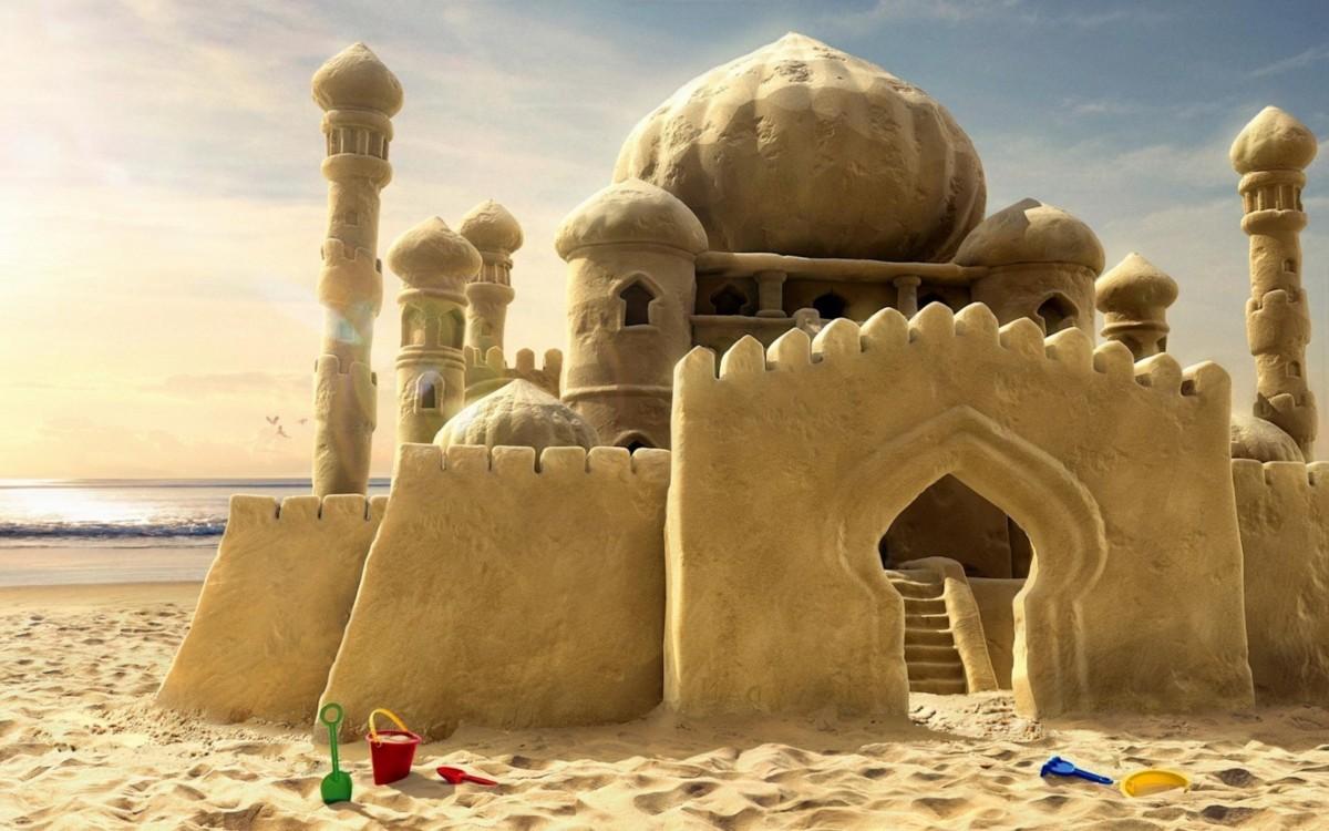 Пазл Собирать пазлы онлайн - Дворец из песка