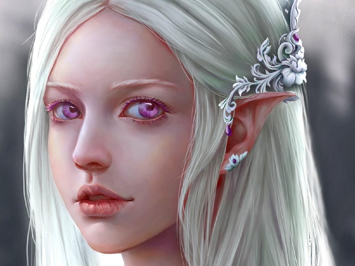 Пазл Собирать пазлы онлайн - Эльфийка