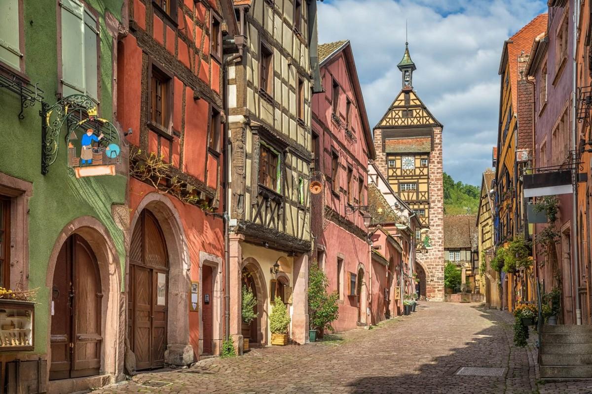 Пазл Собирать пазлы онлайн - Эльзас Франция