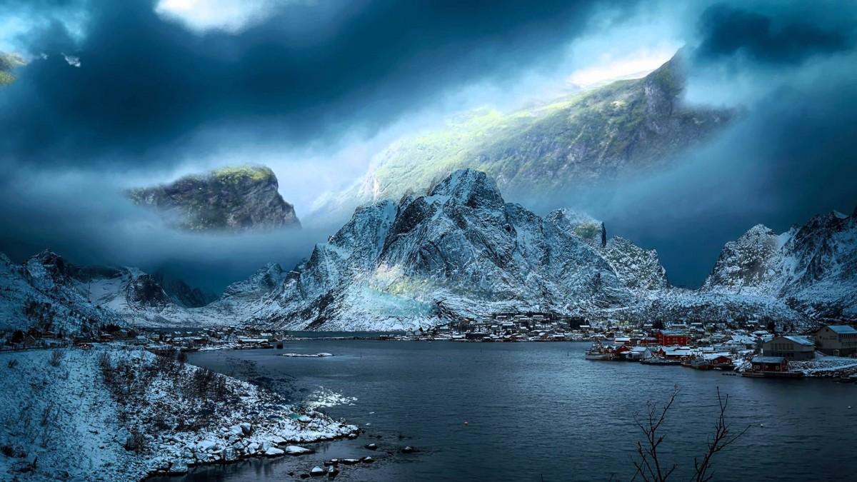 Пазл Собирать пазлы онлайн - Фиорд Норвегия