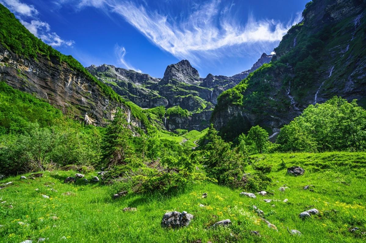 Пазл Собирать пазлы онлайн - Французские Альпы