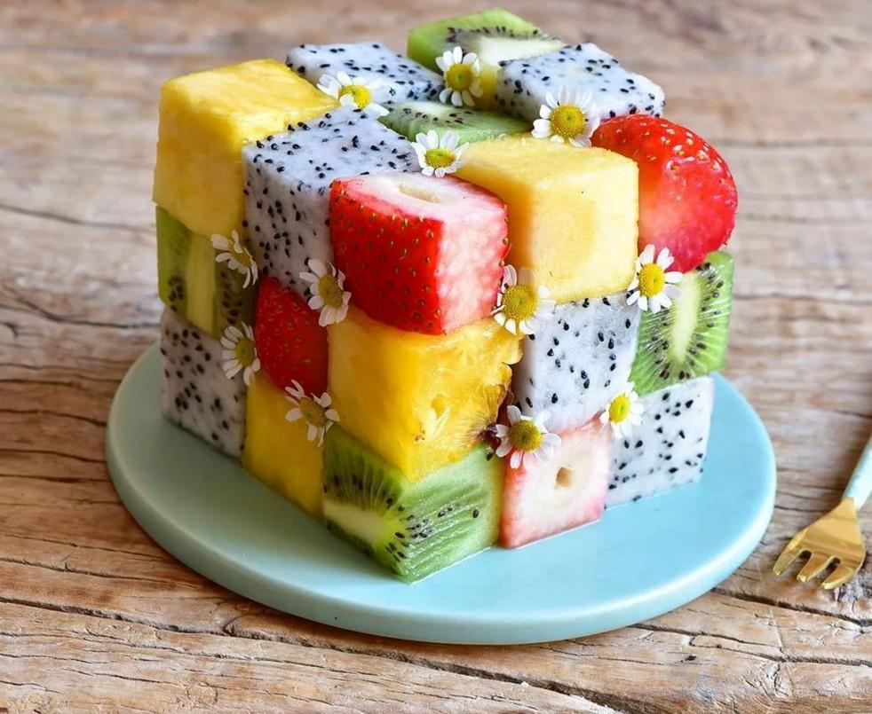 Пазл Собирать пазлы онлайн - Фруктовый десерт