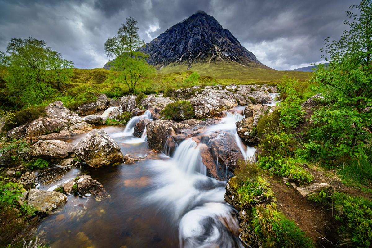Пазл Собирать пазлы онлайн - Гора в Шотландии