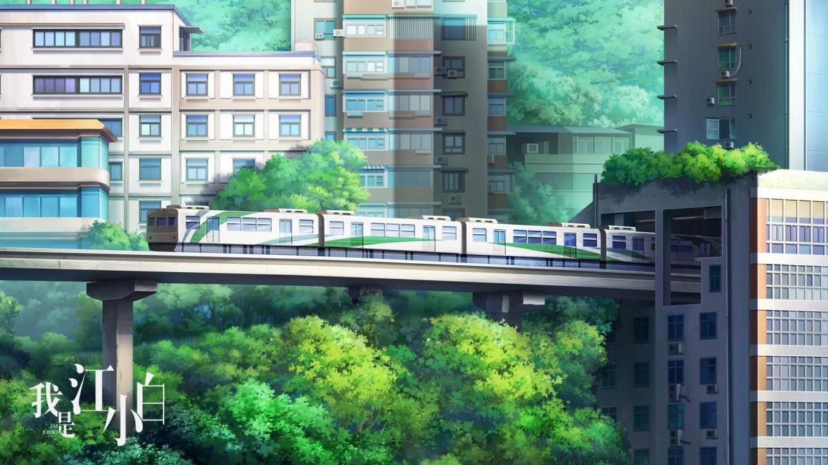 Пазл Собирать пазлы онлайн - Город и поезд