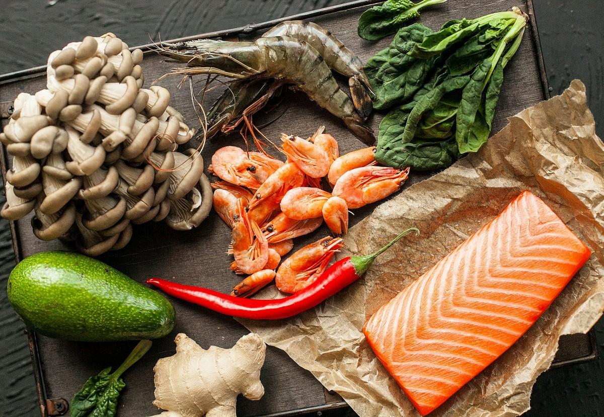Пазл Собирать пазлы онлайн - Грибы и морепродукты