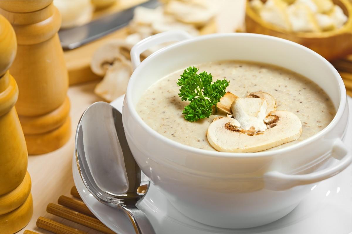 Пазл Собирать пазлы онлайн - Грибной суп с зеленью