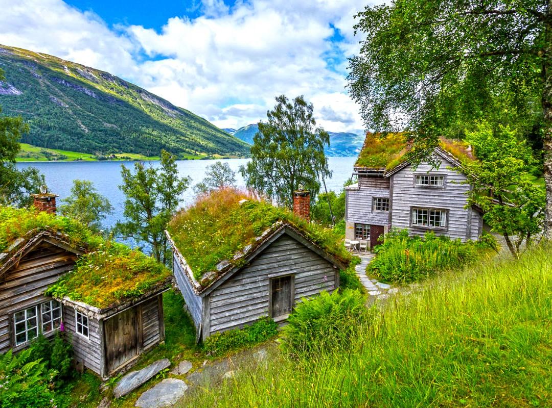 Пазл Собирать пазлы онлайн - Hа берегу фьордa
