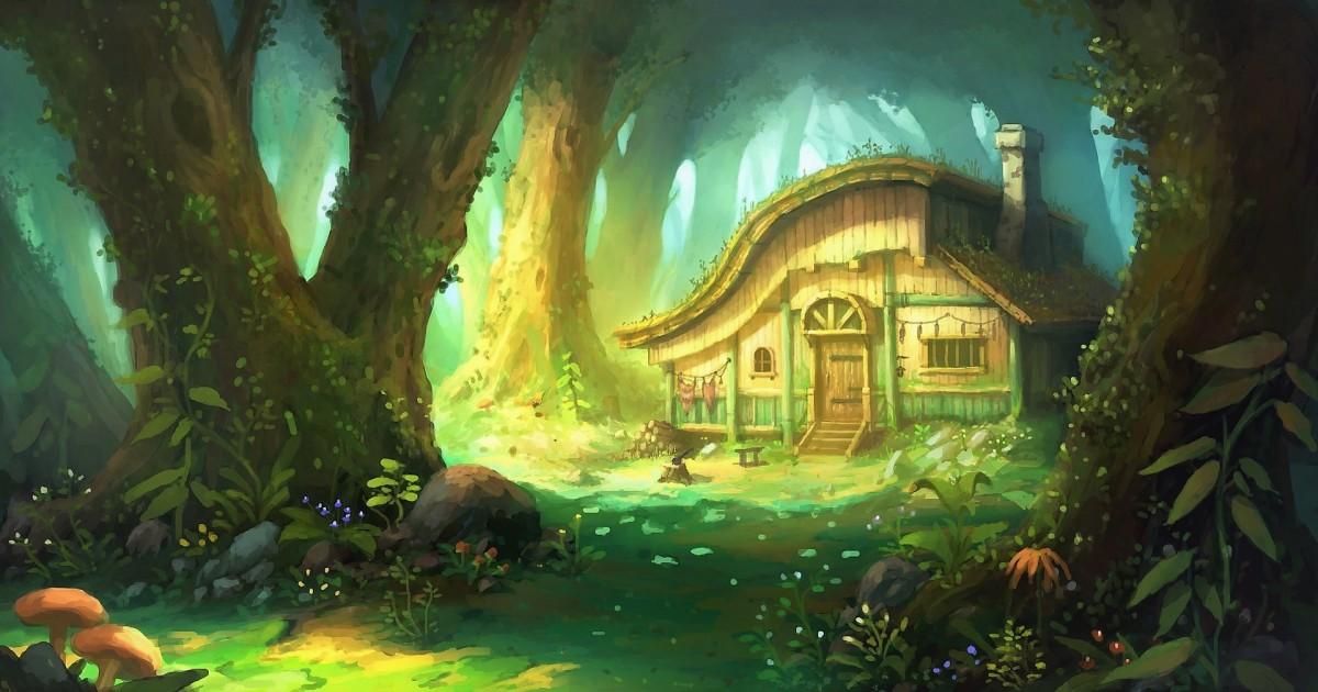 Пазл Собирать пазлы онлайн - Хижина в лесу