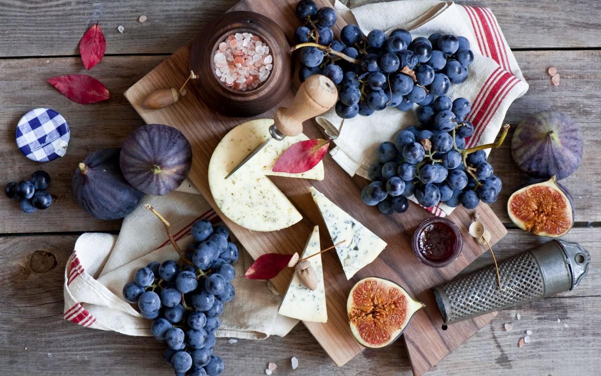 Пазл Собирать пазлы онлайн - Инжир и виноград