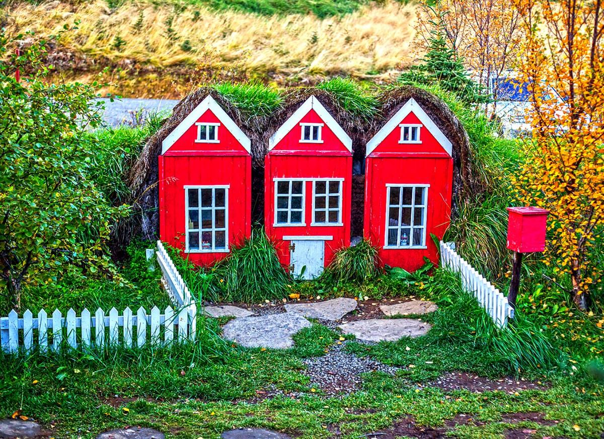 Пазл Собирать пазлы онлайн - Исландский дом