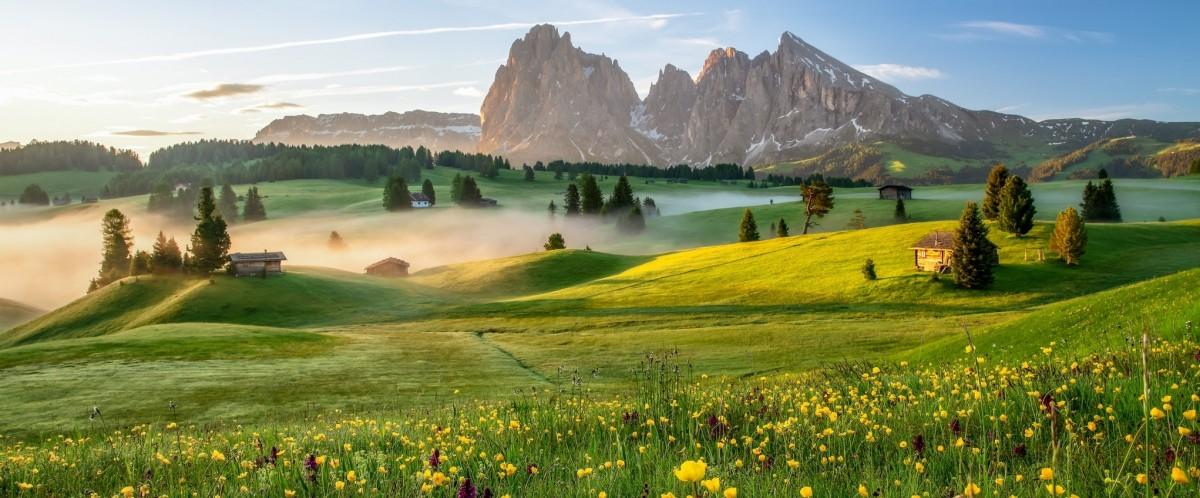 Пазл Собирать пазлы онлайн - Итальянские горы