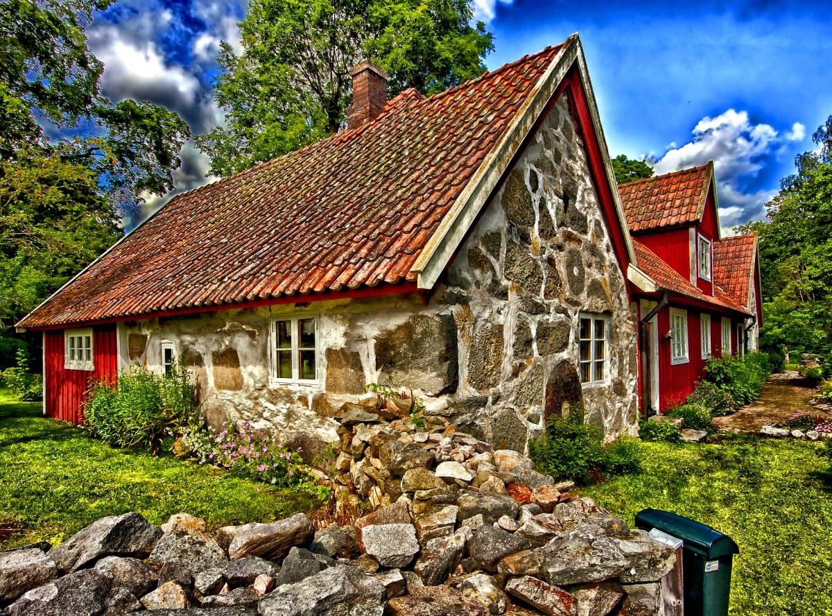 Пазл Собирать пазлы онлайн - Каменный дом