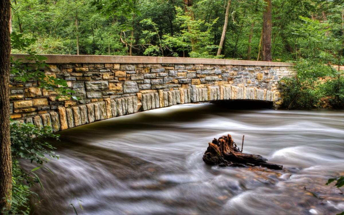 Пазл Собирать пазлы онлайн - Каменный мостик